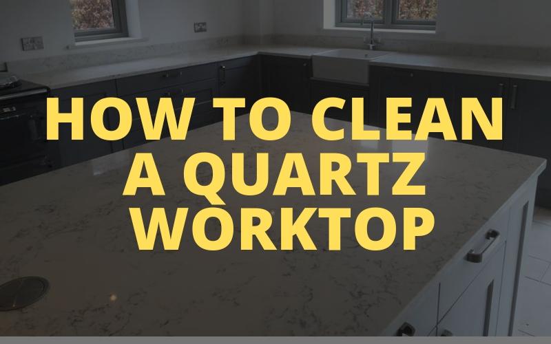 How to clean a quartz worktop