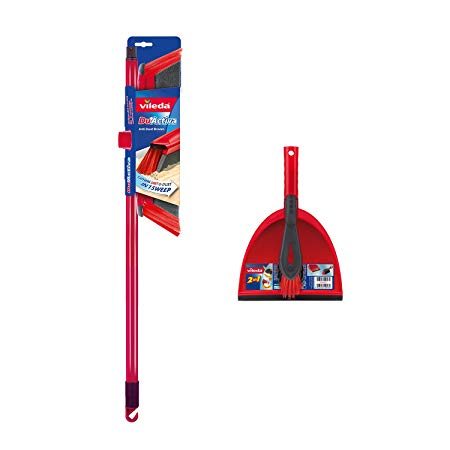Vileda DuActiva 2-in1Anti-Dust Broom Plus Dustpan Set
